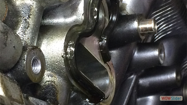 Neglected oil leak that caused engine failure. Fix it before its to late.